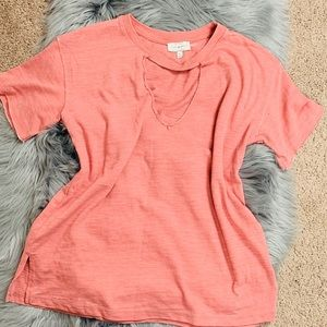 Lucky brand distressed shirt